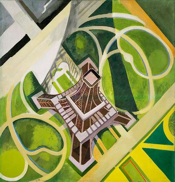Robert Delaunay, La Tour Eiffel et jardin du Champ-de-Mars, 1922, Öl auf Leinwand, 178,1 x 170,4 cm Hirshhorn Museum and Sculpture Garden, Smithsonian Institution, Washington, DC, The Joseph H. Hirshhorn Bequest, 1981 Foto: Lee Stalsworth